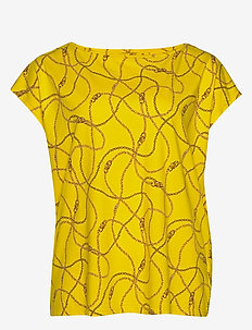 Print Cotton-Blend Tee - t-shirts - dandelion multi