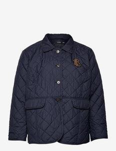 Quilted Taffeta Jacket - tepitud jakid - lauren navy