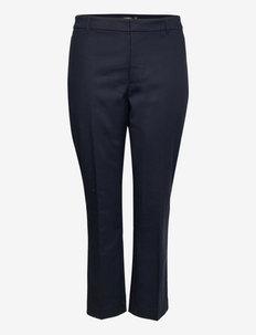 Double-Faced Stretch Cotton Pant - sirge säärega püksid - lauren navy