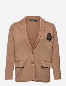Bullion-Crest Knit Blazer - enkeltspent blazer - classic camel