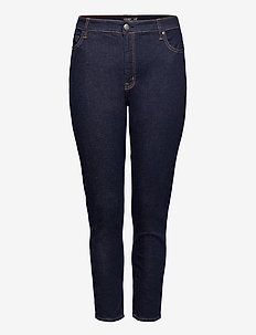 High-Rise Skinny Ankle Jean - straight jeans - rinse wash