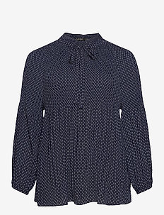 DRAPEY POLY GGT-TOP - langærmede bluser - french navy/pale