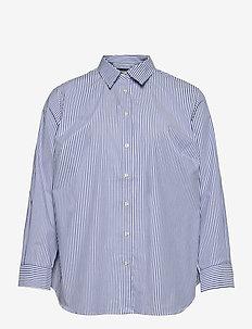 Easy Care Striped Cotton Shirt - overhemden met lange mouwen - blue/white