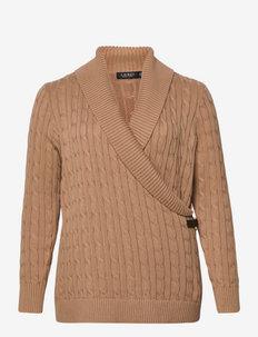 Cable-Knit Buckle-Trim Sweater - džemprid - classic camel