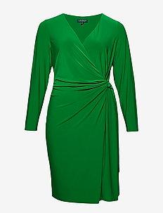 Buckled Jersey Dress - CAMBRIDGE GREEN