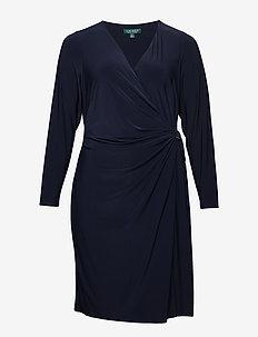 Buckled Jersey Dress - LIGHTHOUSE NAVY