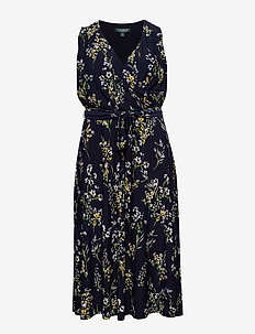 Floral Ruched Jersey Dress - LH NAVY/MULTI
