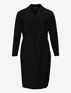 Wrap-Style Jersey Dress - alledaagse jurken - black