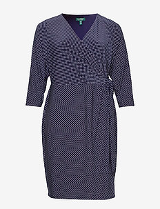 Polka-Dot Jersey Dress - kietaisumekot - lighthouse navy/c