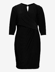Wrap-Style Jersey Dress - cocktail-mekot - black