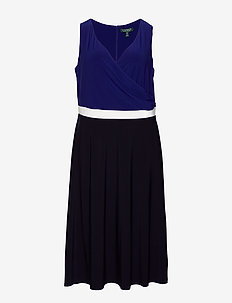 Color-Blocked Jersey Dress - kietaisumekot - lh navy/l white/c