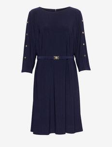 Belted Jersey Dress - igapäevased kleidid - lighthouse navy