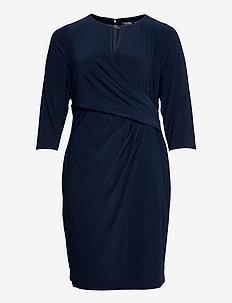 Wrap-Style Jersey Dress - cocktailkleider - lighthouse navy