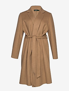 DF WOOL WRAP-COAT - villakangastakit - dark camel