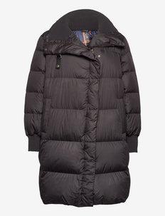 MATTE FINISH-DN COAT STND COLLAR - padded coats - black