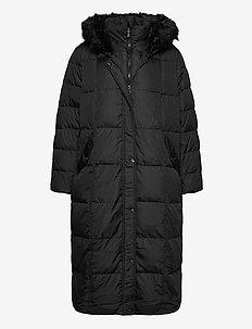 COTTON HAND-MAXI MXD QLT HD COAT - padded coats - black