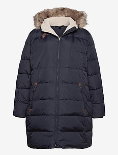 Quilted Down Jacket - talvemantlid - dk navy