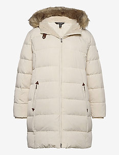 Quilted Down Jacket - padded coats - moda cream