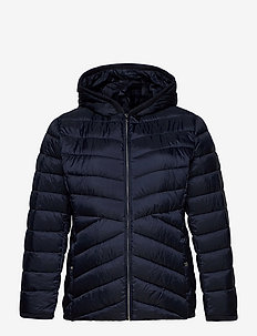 Insulated Quilted Hooded Jacket - talvejoped - navy