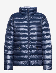 Metallic Quilted Down Jacket - talvejoped - blue
