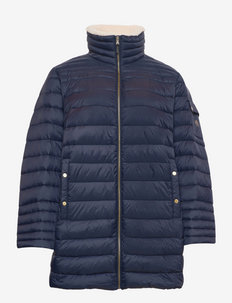 Quilted Stand-Collar Down Jacket - talvejoped - navy