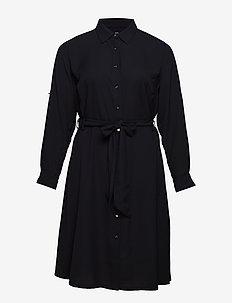 Plus Size Georgette Shirtdress - paitamekot - polo black
