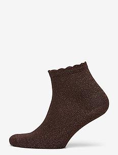 Lux Korte glimmer sokletter - footies - brown cupp