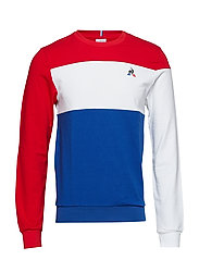 TRI Crew Sweat N°1 M - PUR ROUGE/NEW OPT WH
