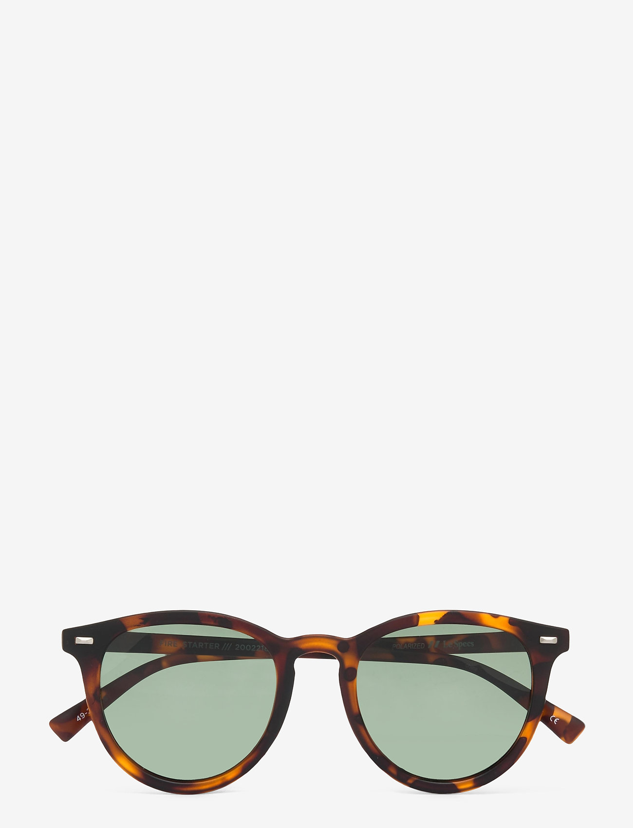 Le Specs - FIRE STARTER *POLARIZED* - ronde zonnebril - matte tort w/ khaki mono **polarized** lens - 1