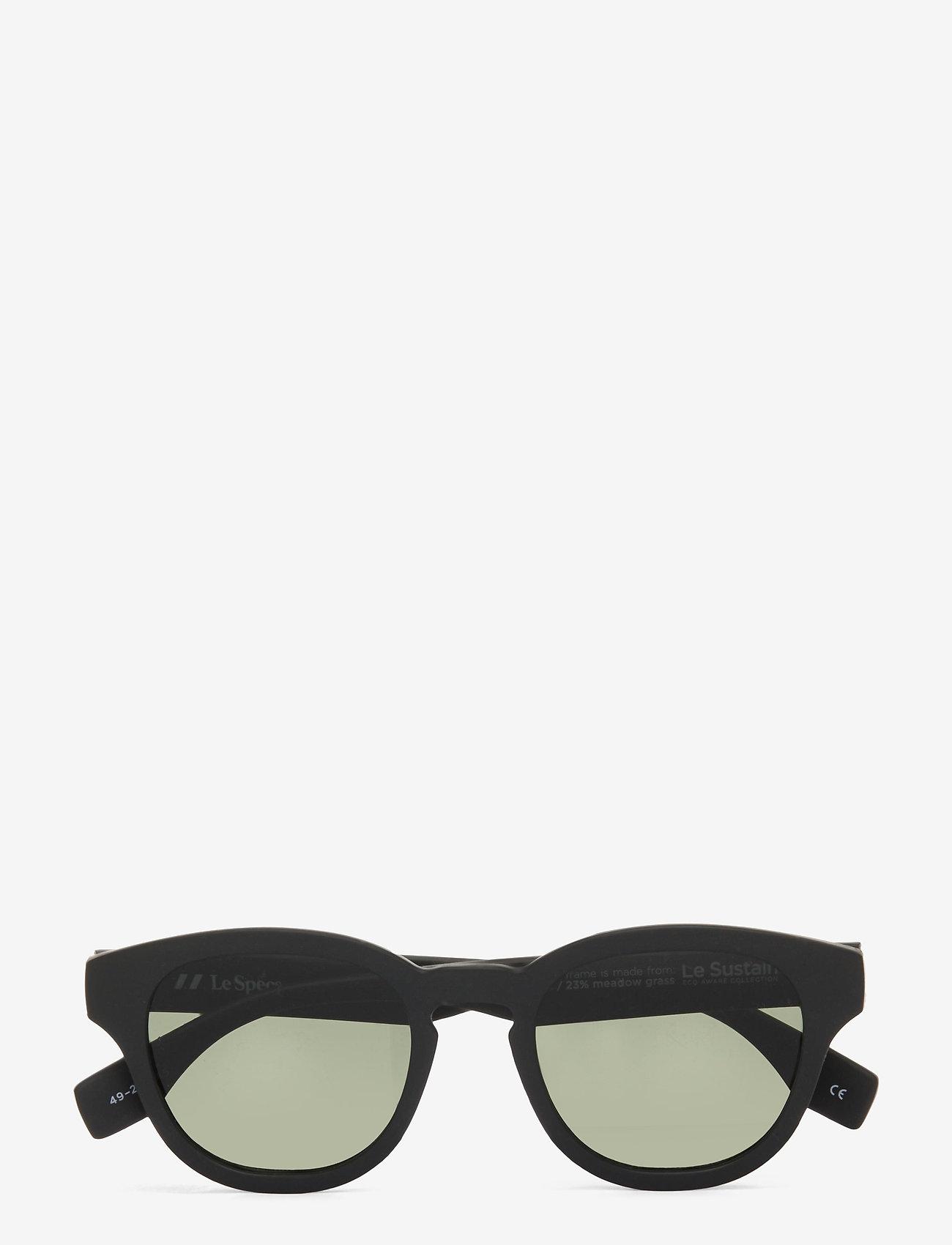 Le Specs - LE SUSTAIN - GRASS BAND - ronde zonnebril - black grass w/ khaki mono lens - 0