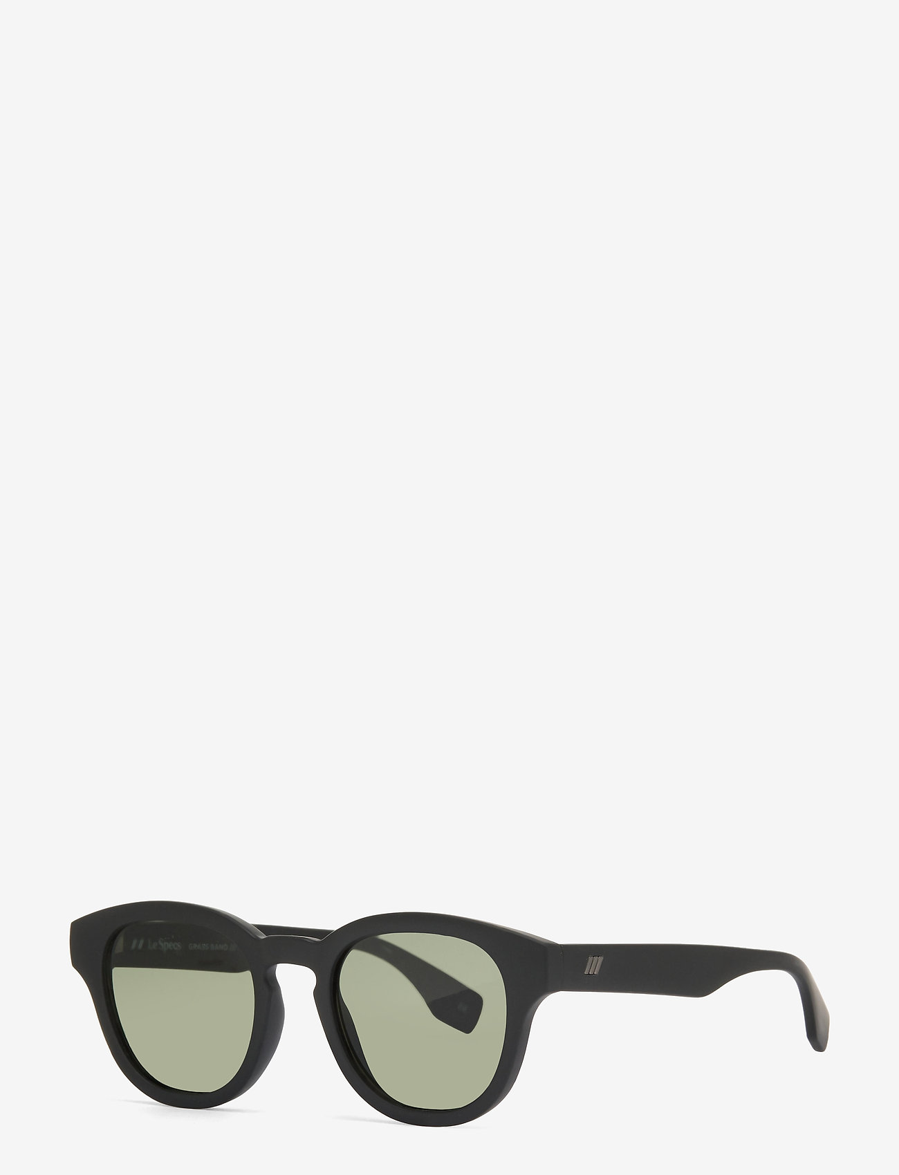 Le Specs - LE SUSTAIN - GRASS BAND - ronde zonnebril - black grass w/ khaki mono lens - 1