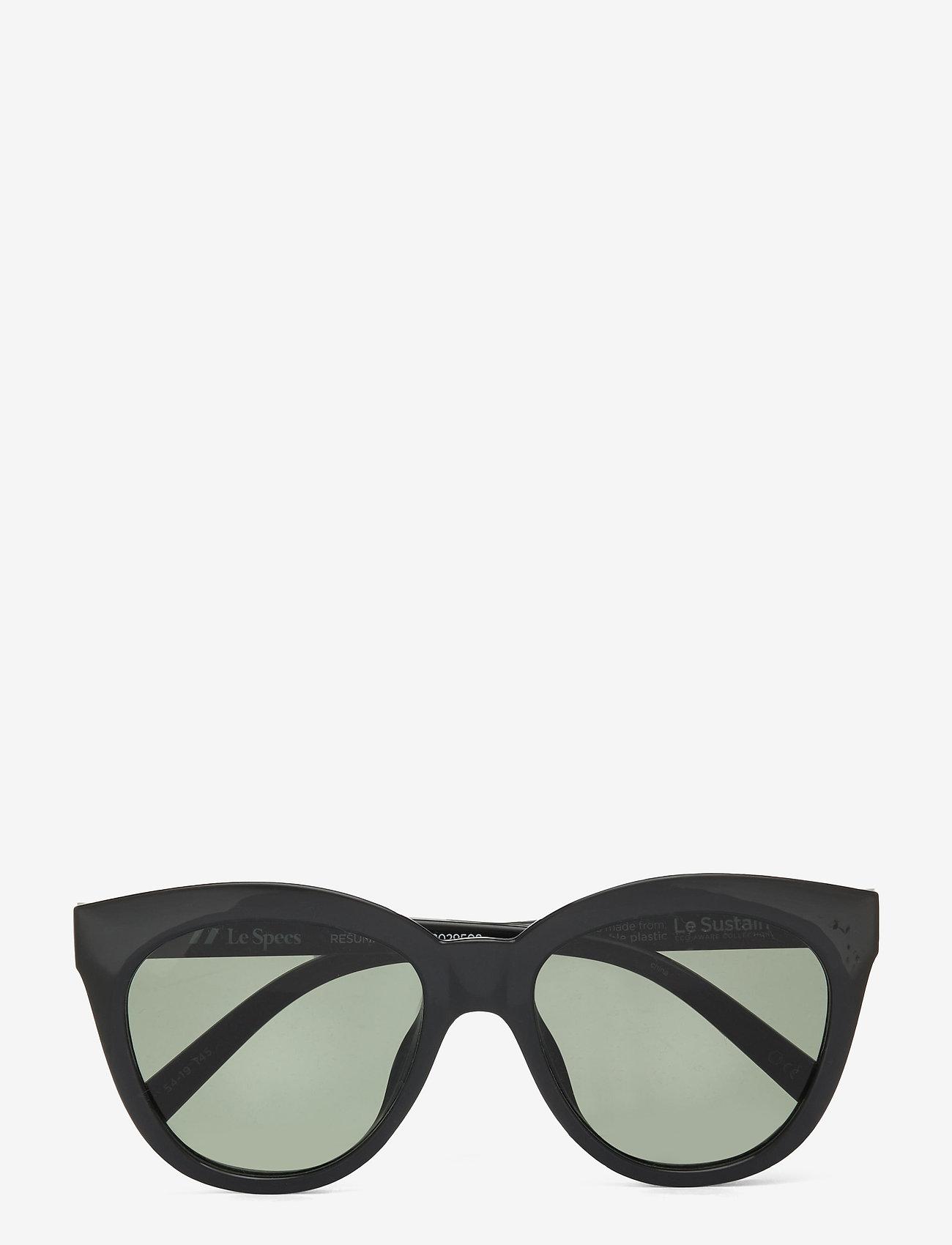 Le Specs - LE SUSTAIN - RESUMPTION - rond model - black w/ khaki mono lens - 0