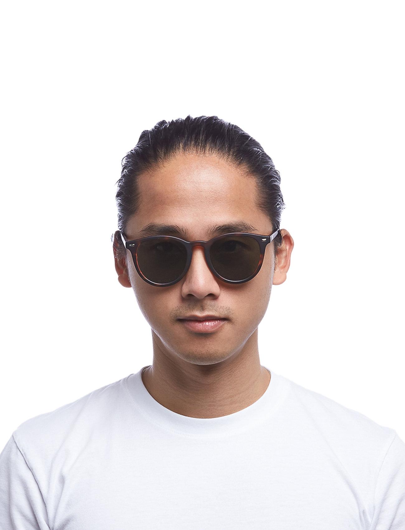 Le Specs - FIRE STARTER *POLARIZED* - ronde zonnebril - matte tort w/ khaki mono **polarized** lens - 0