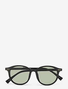 EQUINOCTIAL - ronde zonnebril - black w/ khaki mono
