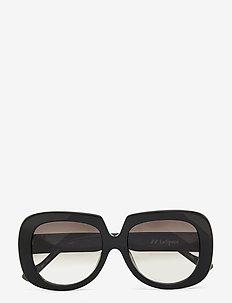 LE SPECS HANDMADE/RX - BED OF ROSES - wayfarer - black / tort w/ khaki grad lens