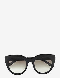 LE SPECS HANDMADE/RX - AIRY CANARY - cat-eye - black w/ khaki mono lens