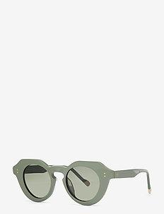 LE SPECS HANDMADE/RX - CAPELLA - rond model - sage putty w/ khaki mono