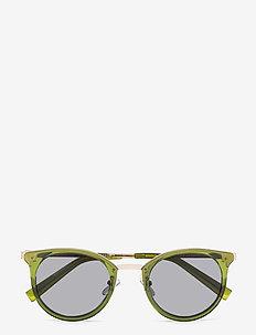 NO LURKING - ronde zonnebril - khaki w/ smoke mono
