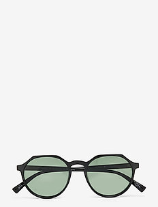 SPEED OF NIGHT *POLARIZED* - ronde zonnebril - black w/ khaki mono *polarized* lens