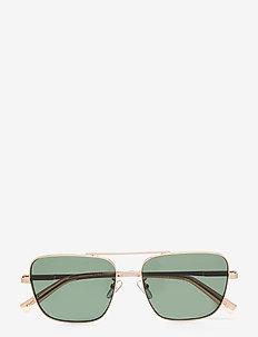 HERCULES - piloten zonnebril - gold / stone w/ green mono