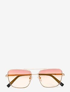 HERCULES - piloten zonnebril - bright gold / black w/ lava grad mirror