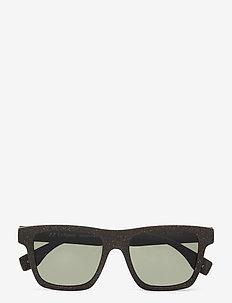 LE SUSTAIN - GRASSY KNOLL - d-vormige zonnebril - midnight grass w/ khaki mono lens