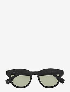 LE SUSTAIN - GRASS BAND - ronde zonnebril - black grass w/ khaki mono lens