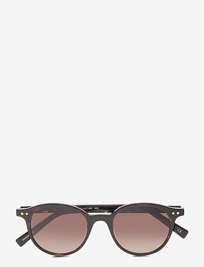 LE SPECS HANDMADE - EQUINOX - okrągłe okulary przeciwsłoneczne - tortoise