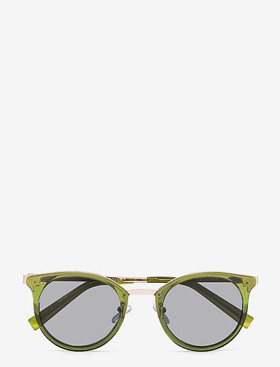 NO LURKING - okrągłe okulary przeciwsłoneczne - khaki w/ smoke mono