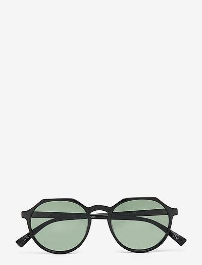 SPEED OF NIGHT *POLARIZED* - okrągłe okulary przeciwsłoneczne - black w/ khaki mono *polarized* lens