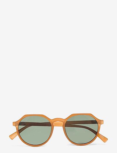 SPEED OF NIGHT - okrągłe okulary przeciwsłoneczne - ochre w/ khaki mono lens