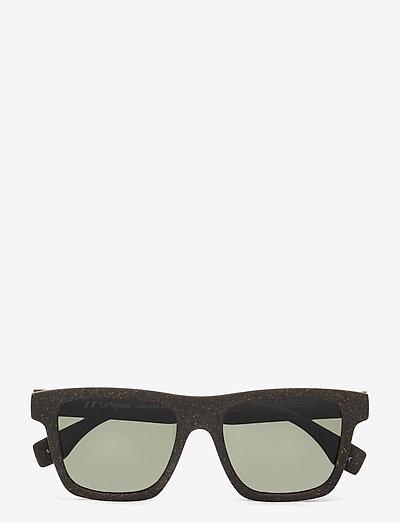 LE SUSTAIN - GRASSY KNOLL - okulary przeciwsłoneczne motyl - midnight grass w/ khaki mono lens