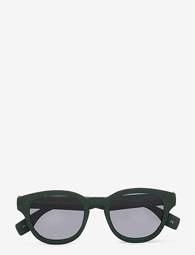 LE SUSTAIN - GRASS BAND - okrągłe okulary przeciwsłoneczne - khaki grass w/ smoke mono lens