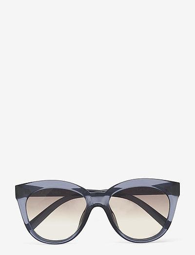 LE SUSTAIN - RESUMPTION - okulary przeciwsłoneczne okrągłe - midnight w/ khaki grad lens